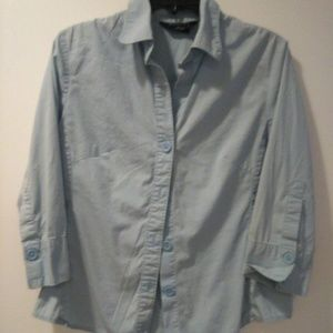 George Ladies Stretch Button Up Shirt Size L 12/14